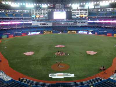 View from the Rogers Centre Press Box